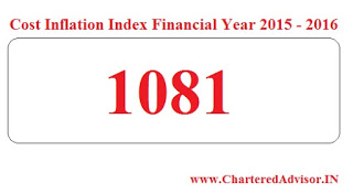 Cost Inflation Index for FY 2015 - 2016